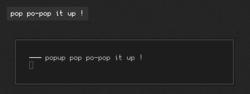 simple popup
